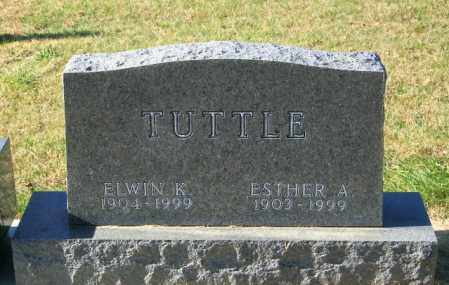 TUTTLE, ESTHER A - Lincoln County, South Dakota | ESTHER A TUTTLE - South Dakota Gravestone Photos