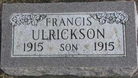 ULRICKSON, FRANCIS - Lincoln County, South Dakota | FRANCIS ULRICKSON - South Dakota Gravestone Photos