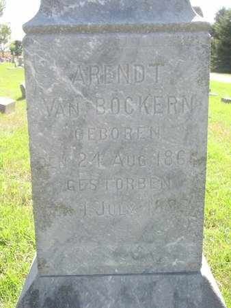 VAN BOCKERN, ARENDT (CLOSE UP) - Lincoln County, South Dakota | ARENDT (CLOSE UP) VAN BOCKERN - South Dakota Gravestone Photos