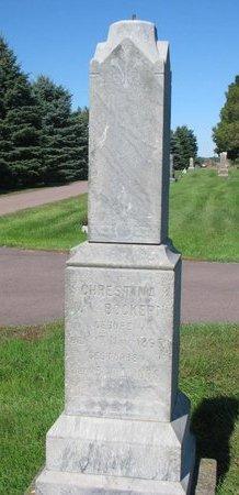 VAN BOCKERN, CHRESTINA - Lincoln County, South Dakota | CHRESTINA VAN BOCKERN - South Dakota Gravestone Photos