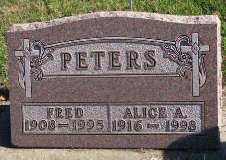 PETERS, FRED - Lincoln County, South Dakota | FRED PETERS - South Dakota Gravestone Photos