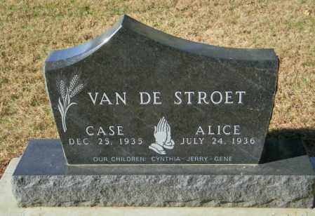 VAN DE STROET, ALICE - Lincoln County, South Dakota | ALICE VAN DE STROET - South Dakota Gravestone Photos