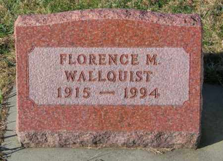 WALLQUIST, FLORENCE M. - Lincoln County, South Dakota | FLORENCE M. WALLQUIST - South Dakota Gravestone Photos