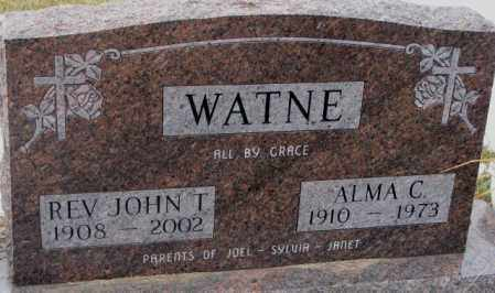 WATNE, JOHN T. (REV.) - Lincoln County, South Dakota | JOHN T. (REV.) WATNE - South Dakota Gravestone Photos