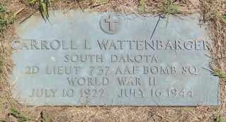WATTENBARGER, CARROLL L. - Lincoln County, South Dakota | CARROLL L. WATTENBARGER - South Dakota Gravestone Photos