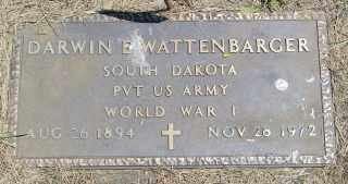 WATTENBARGER, DARWIN E. - Lincoln County, South Dakota | DARWIN E. WATTENBARGER - South Dakota Gravestone Photos