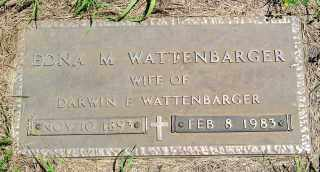 ATWOOD WATTENBARGER, EDNA M. - Lincoln County, South Dakota | EDNA M. ATWOOD WATTENBARGER - South Dakota Gravestone Photos