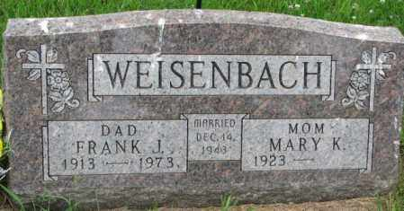 WEISENBACH, FRANK J. - Lincoln County, South Dakota | FRANK J. WEISENBACH - South Dakota Gravestone Photos