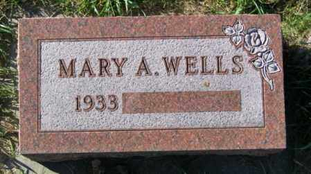 WELLS, MARY A. - Lincoln County, South Dakota   MARY A. WELLS - South Dakota Gravestone Photos