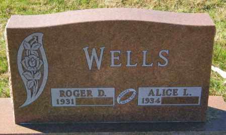 WELLS, ROGER D. - Lincoln County, South Dakota   ROGER D. WELLS - South Dakota Gravestone Photos