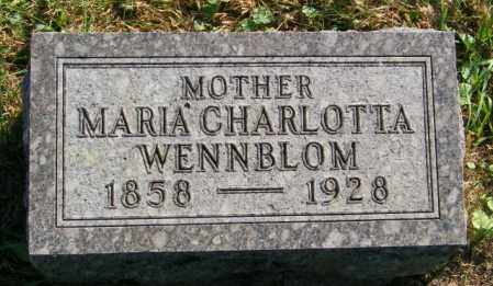 WENNBLOM, MARIA CHARLOTTA - Lincoln County, South Dakota | MARIA CHARLOTTA WENNBLOM - South Dakota Gravestone Photos
