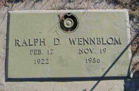 WENNBLOM, RALPH D - Lincoln County, South Dakota   RALPH D WENNBLOM - South Dakota Gravestone Photos