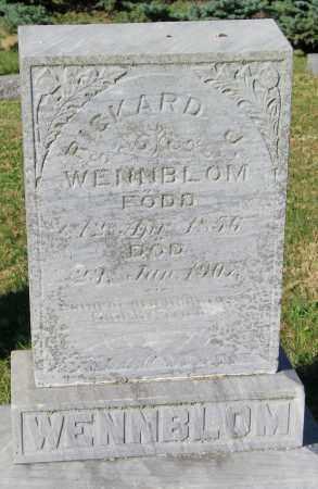 WENNBLOM, RICHARD J. - Lincoln County, South Dakota | RICHARD J. WENNBLOM - South Dakota Gravestone Photos