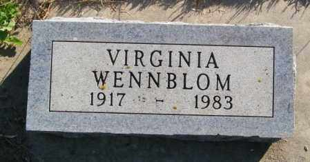 WENNBLOM, VIRGINIA - Lincoln County, South Dakota | VIRGINIA WENNBLOM - South Dakota Gravestone Photos