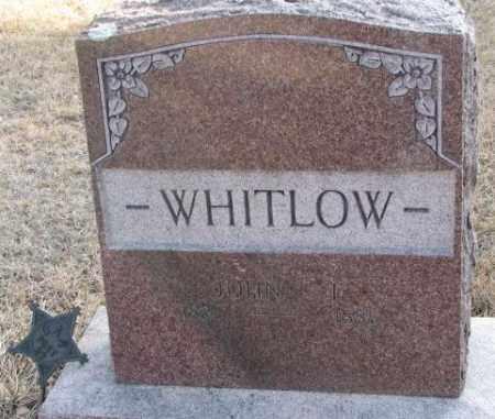 WHITLOW, JOHN T. - Lincoln County, South Dakota   JOHN T. WHITLOW - South Dakota Gravestone Photos