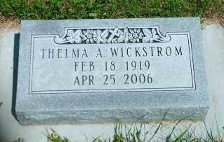 ARNE WICKSTROM, THELMA A. - Lincoln County, South Dakota | THELMA A. ARNE WICKSTROM - South Dakota Gravestone Photos