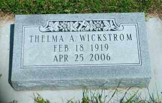 WICKSTROM, THELMA A. - Lincoln County, South Dakota   THELMA A. WICKSTROM - South Dakota Gravestone Photos