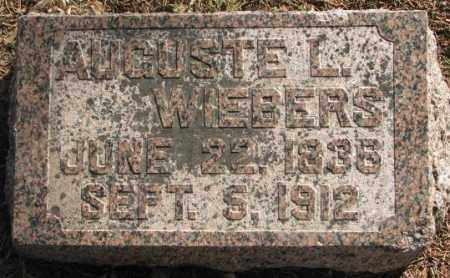 WIEBERS, AUGUSTE L. - Lincoln County, South Dakota   AUGUSTE L. WIEBERS - South Dakota Gravestone Photos
