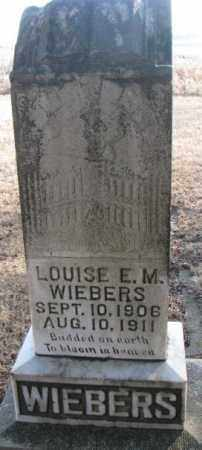 WIEBERS, LOUISE E.M. - Lincoln County, South Dakota | LOUISE E.M. WIEBERS - South Dakota Gravestone Photos