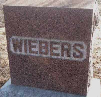 WIEBERS, PLOT MARKER - Lincoln County, South Dakota | PLOT MARKER WIEBERS - South Dakota Gravestone Photos