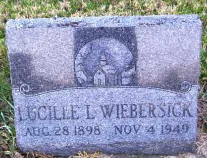 WIEBERSICK, LUCILLE L. - Lincoln County, South Dakota | LUCILLE L. WIEBERSICK - South Dakota Gravestone Photos