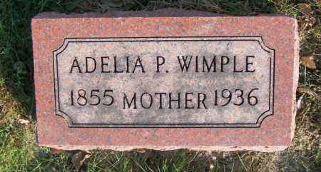 WIMPLE, ADELIA P. - Lincoln County, South Dakota | ADELIA P. WIMPLE - South Dakota Gravestone Photos