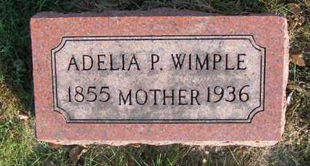 WIMPLE, ADELIA P. - Lincoln County, South Dakota | ADELIA P. WIMPLE - South Dakota Gravestone Photos