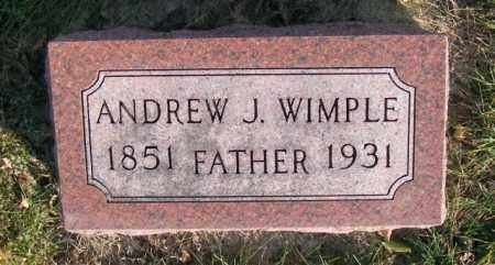 WIMPLE, ANDREW J. - Lincoln County, South Dakota | ANDREW J. WIMPLE - South Dakota Gravestone Photos