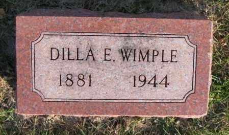 WIMPLE, DILLA E. - Lincoln County, South Dakota | DILLA E. WIMPLE - South Dakota Gravestone Photos