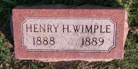 WIMPLE, HENRY H. - Lincoln County, South Dakota | HENRY H. WIMPLE - South Dakota Gravestone Photos
