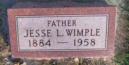 WIMPLE, JESSE L. - Lincoln County, South Dakota | JESSE L. WIMPLE - South Dakota Gravestone Photos