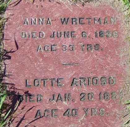 WRETMAN, ANNA - Lincoln County, South Dakota | ANNA WRETMAN - South Dakota Gravestone Photos