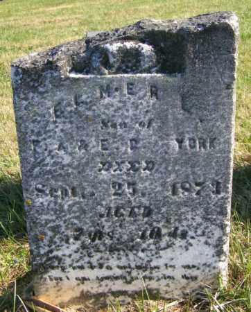 YORK, ELMER L - Lincoln County, South Dakota   ELMER L YORK - South Dakota Gravestone Photos