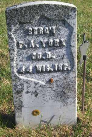 YORK, F. A. - Lincoln County, South Dakota | F. A. YORK - South Dakota Gravestone Photos