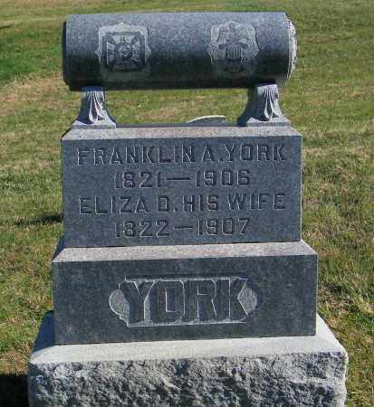 YORK, FRANKLIN A. - Lincoln County, South Dakota | FRANKLIN A. YORK - South Dakota Gravestone Photos
