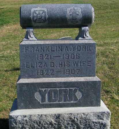 YORK, ELIZAA D - Lincoln County, South Dakota   ELIZAA D YORK - South Dakota Gravestone Photos