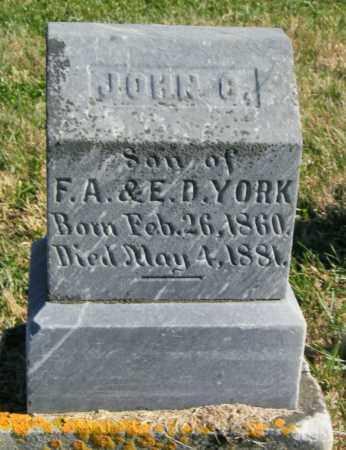 YORK, JOHN C. - Lincoln County, South Dakota   JOHN C. YORK - South Dakota Gravestone Photos