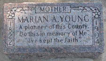 YOUNG, MARIAN A. - Lincoln County, South Dakota | MARIAN A. YOUNG - South Dakota Gravestone Photos