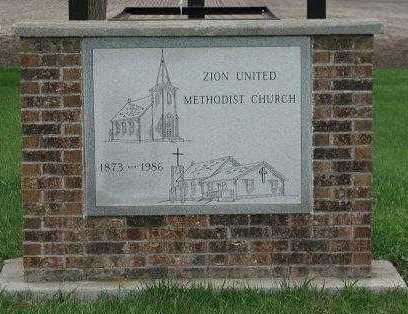 *ZION, UNITED METHODIST - Lincoln County, South Dakota | UNITED METHODIST *ZION - South Dakota Gravestone Photos