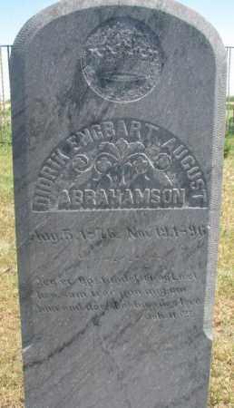 ABRAMSON, DIDRIK ENGBART AUGUST - Lyman County, South Dakota | DIDRIK ENGBART AUGUST ABRAMSON - South Dakota Gravestone Photos