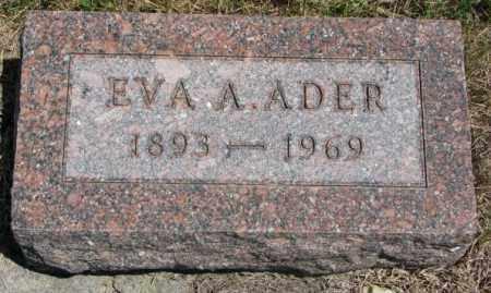 ADER, EVA A. - Lyman County, South Dakota | EVA A. ADER - South Dakota Gravestone Photos