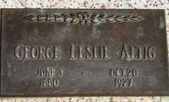 ALTIG, GEORGE LESLIE - Lyman County, South Dakota   GEORGE LESLIE ALTIG - South Dakota Gravestone Photos