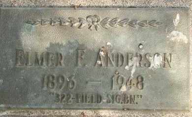 ANDERSON, ELMER F - Lyman County, South Dakota | ELMER F ANDERSON - South Dakota Gravestone Photos