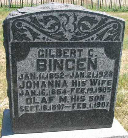 BINGEN, GILBERT GUNERIUS. - Lyman County, South Dakota | GILBERT GUNERIUS. BINGEN - South Dakota Gravestone Photos