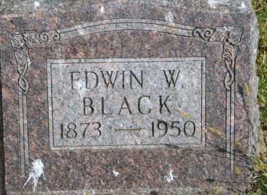 BLACK, EDWIN W - Lyman County, South Dakota | EDWIN W BLACK - South Dakota Gravestone Photos