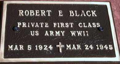 BLACK, ROBERT E - Lyman County, South Dakota   ROBERT E BLACK - South Dakota Gravestone Photos