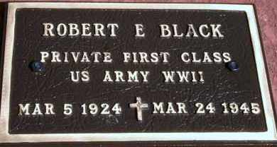 BLACK, ROBERT E - Lyman County, South Dakota | ROBERT E BLACK - South Dakota Gravestone Photos