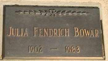 BOWAR, JULIA FENDRICH - Lyman County, South Dakota | JULIA FENDRICH BOWAR - South Dakota Gravestone Photos