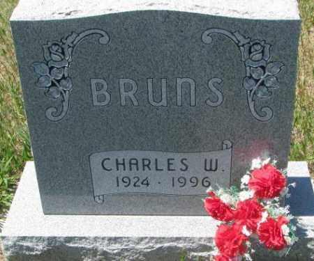 BRUNS, CHARLES W. - Lyman County, South Dakota   CHARLES W. BRUNS - South Dakota Gravestone Photos