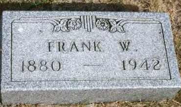 BUNKER, FRANK W - Lyman County, South Dakota   FRANK W BUNKER - South Dakota Gravestone Photos